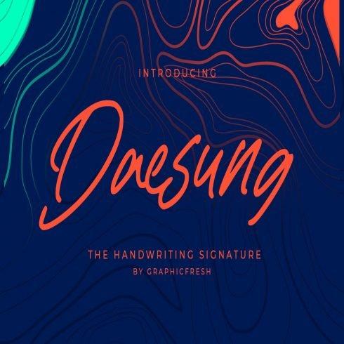 Daesung - The Handwriting Signature main cover.