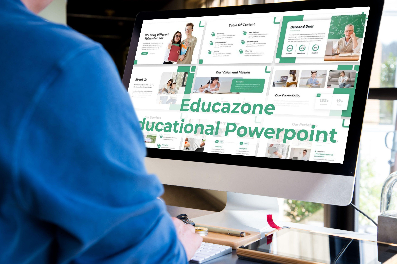 Desktop option of the Educazone template.