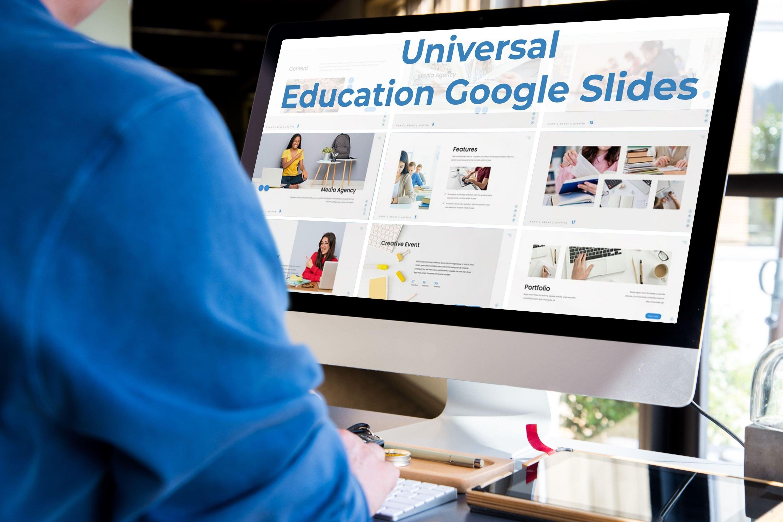 Desktop option of the Universal - Education Google Slides.