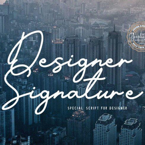 Designer Signature Font Example.