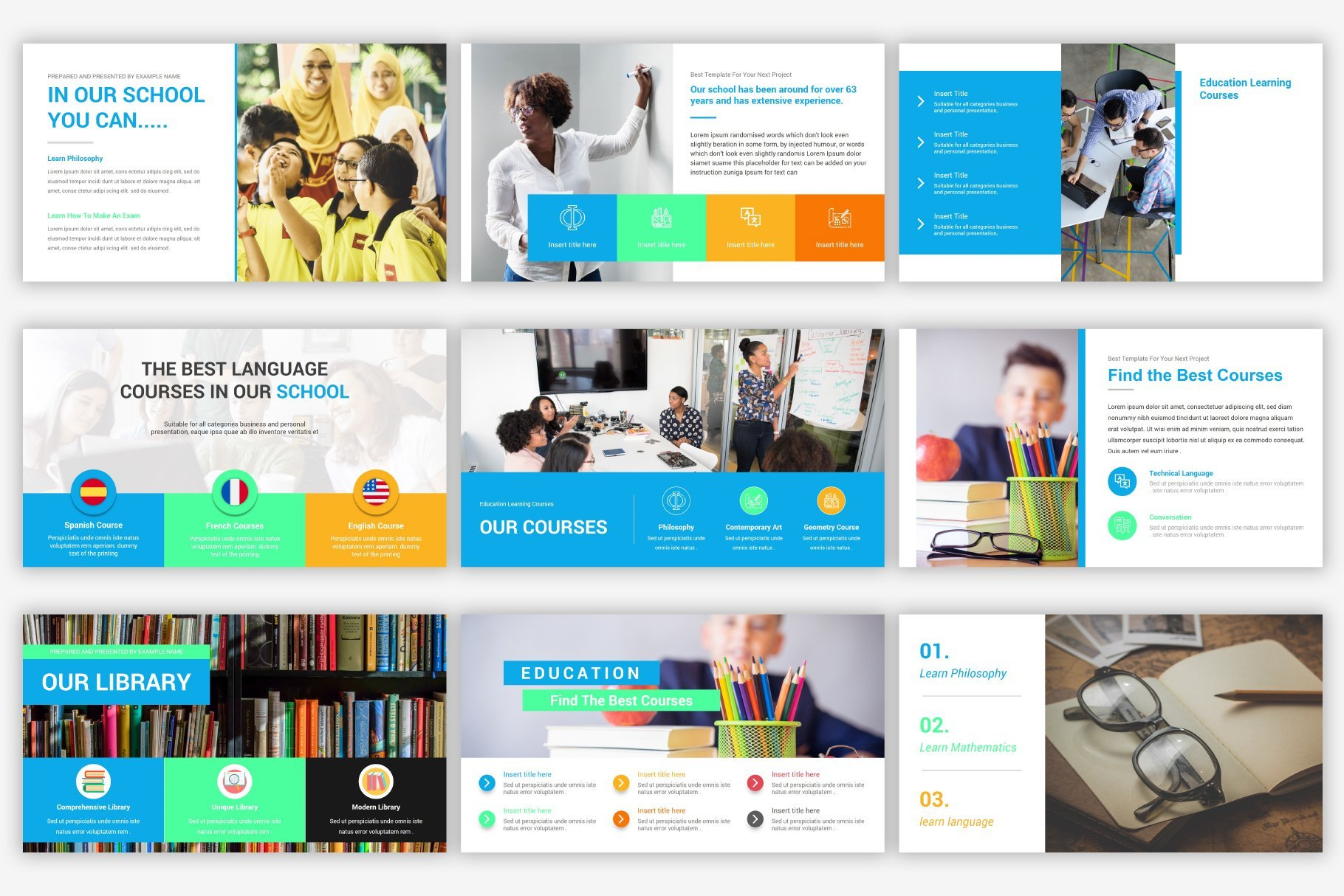 The template has a collection of icons and infographics that will fit perfectly into the theme.