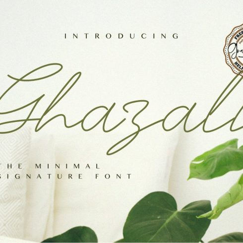 Ghazali - The Minimal Signature Font Example.