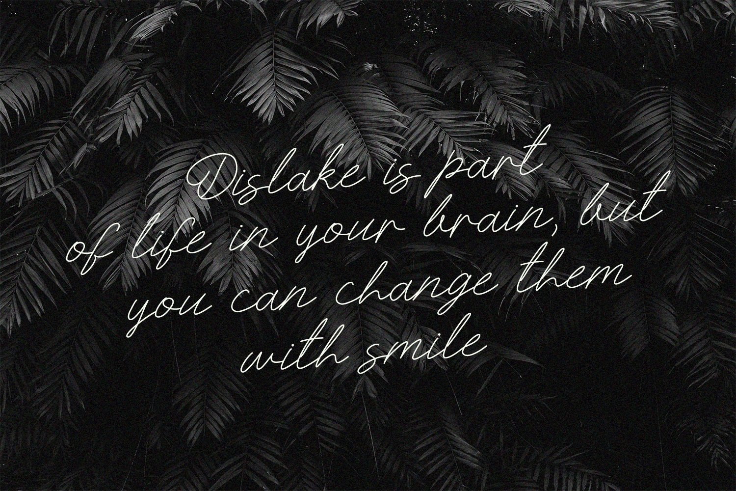 Romantic font on the black background.