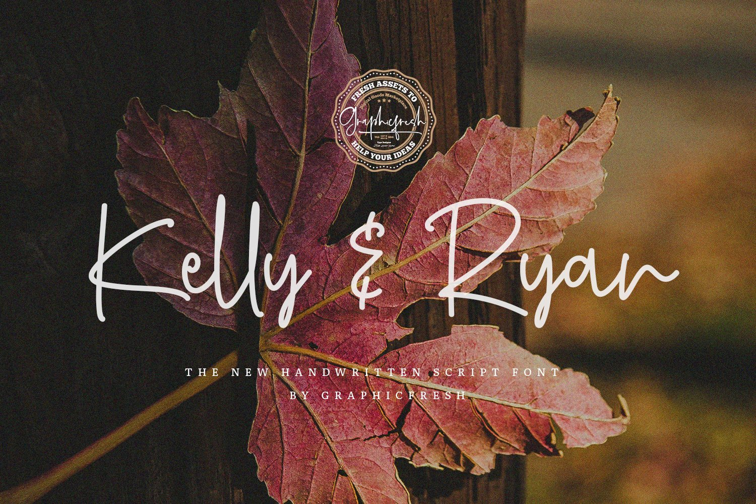 Autumn atmosphere is conveyed by this font.