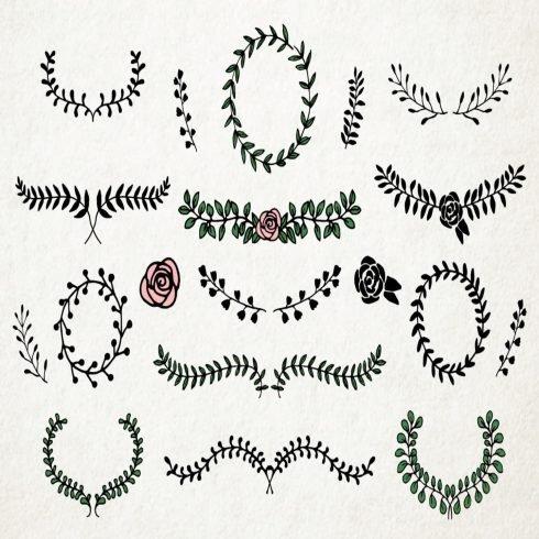Laurels and Floral Frames Pack main cover.