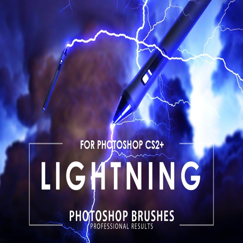 Lightning Photoshop Brushes main cover.