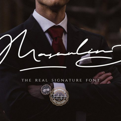 MASCULIN - The Real Signature Font Example.