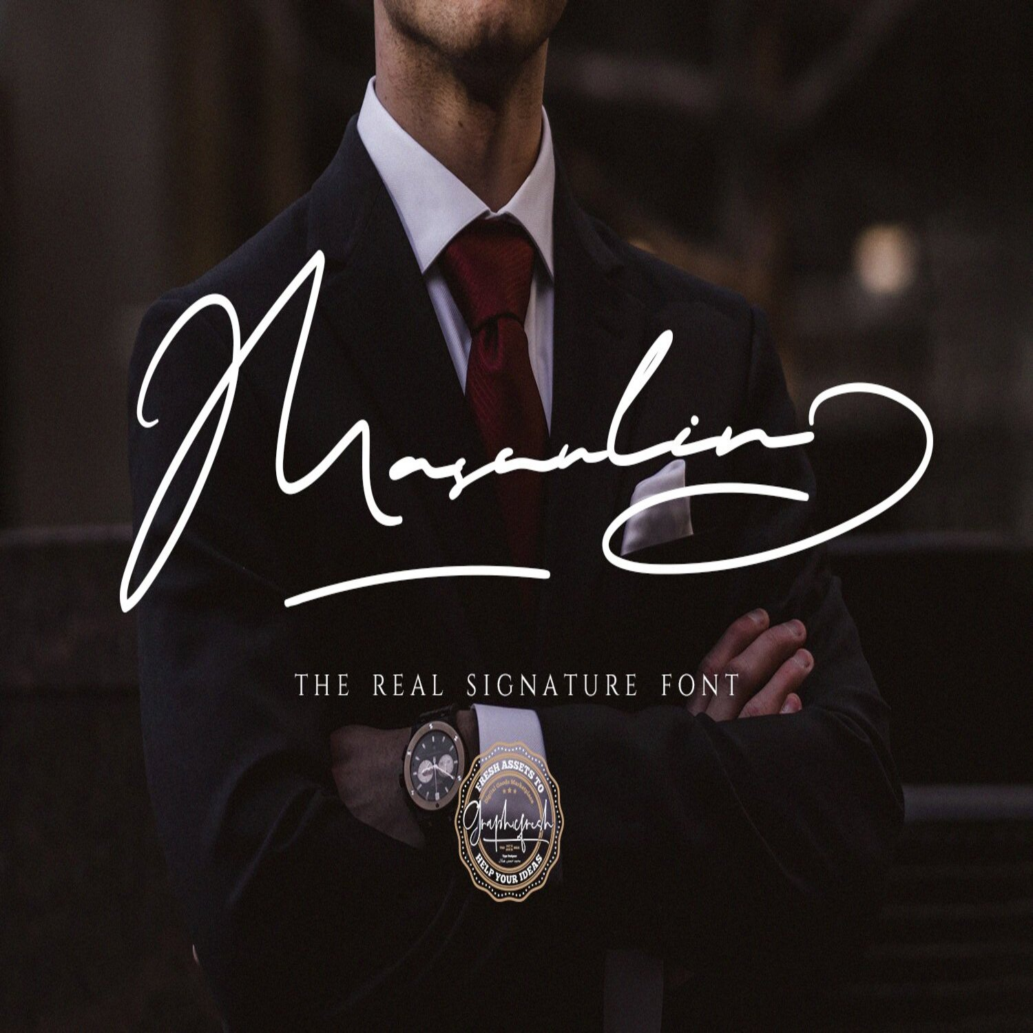 MASCULIN - The Real Signature Font main cover.