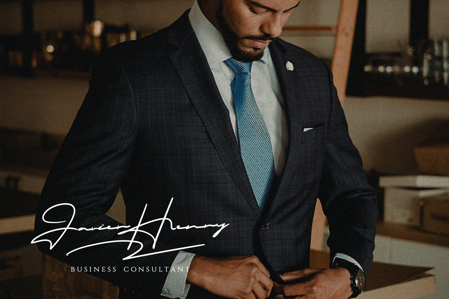 The font looks like the signature of the company's CEO.
