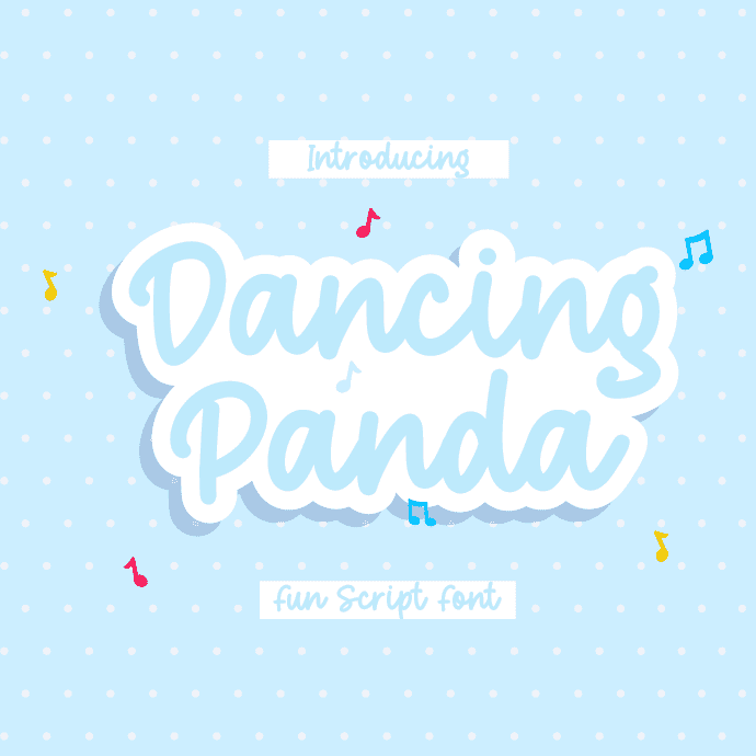 Dancing Panda - A Fun Script Font Example.