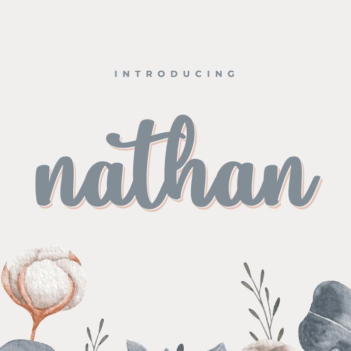 Nathan Script Font Example.