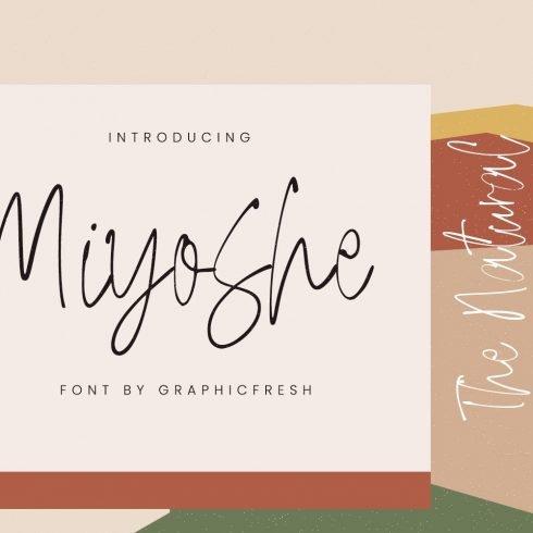 Miyoshe - The Natural Signature Font Example.