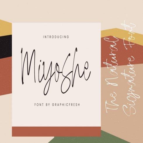 Miyoshe - The Natural Signature Font main cover.