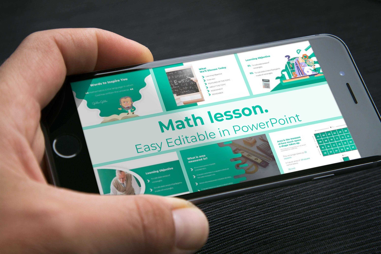 Mobile option of Math Lesson – Mathematics PPTX.