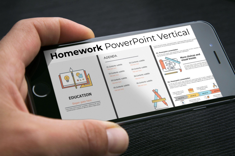 Mobile option of Homework PowerPoint Vertical.