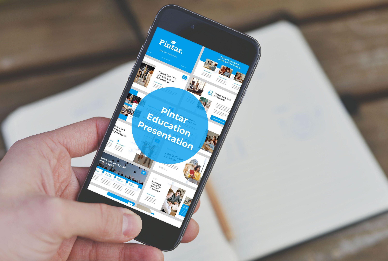 Mobile option of Pintar presentation.