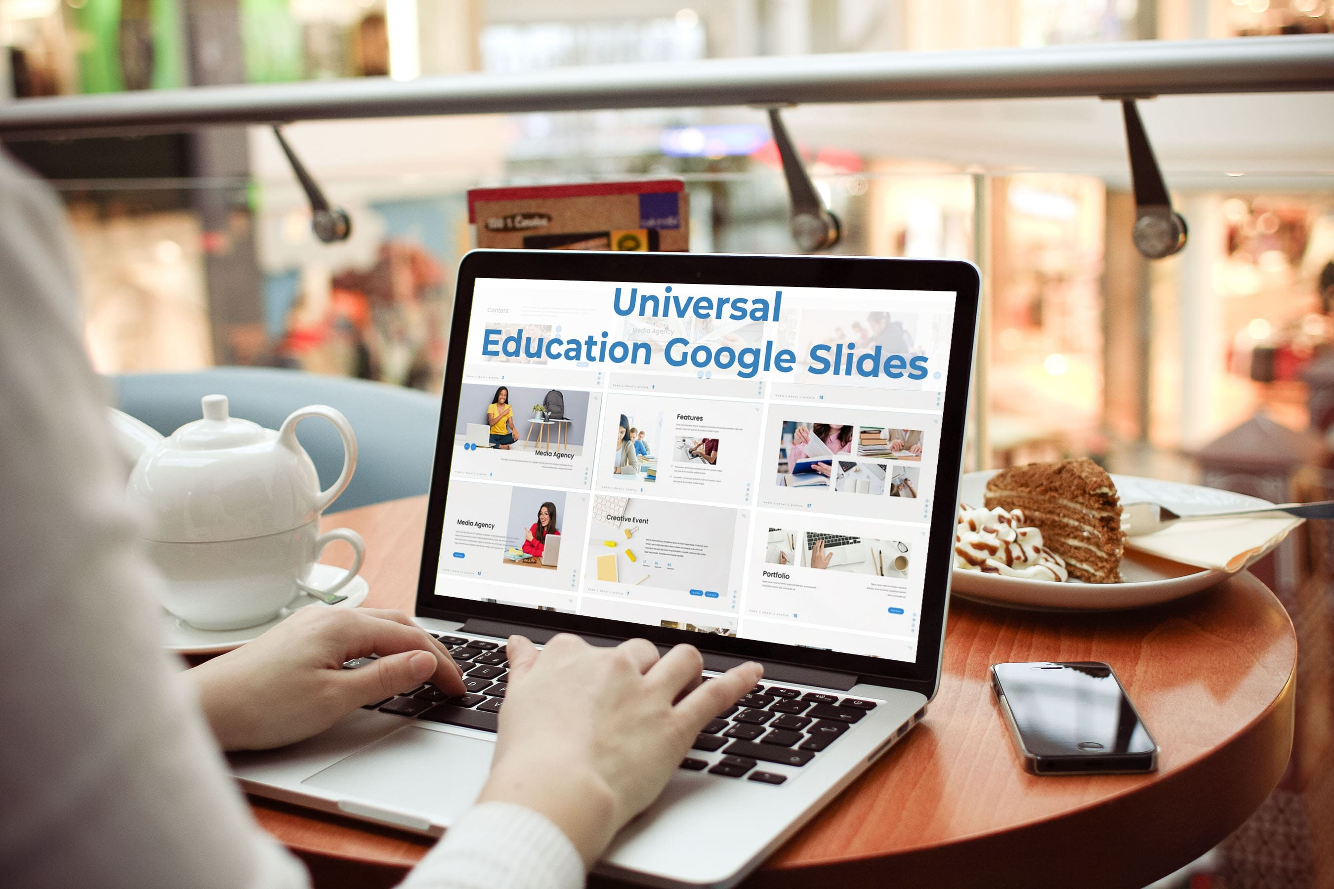 Laptop option of the Universal - Education Google Slides.
