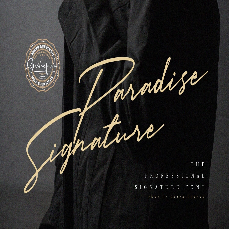 Paradise Signature Font main cover.