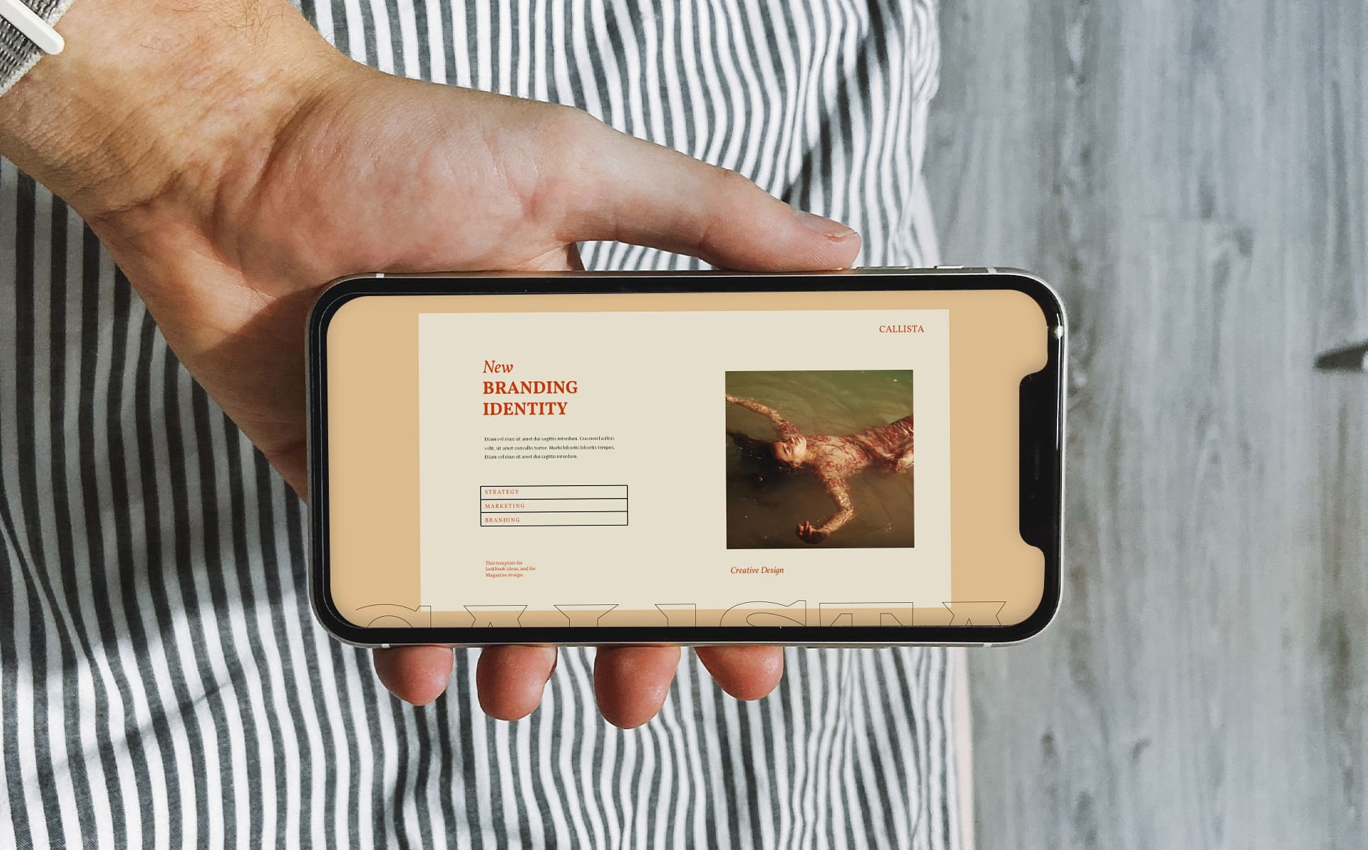 Mobile option of the Calista Keynote Template.