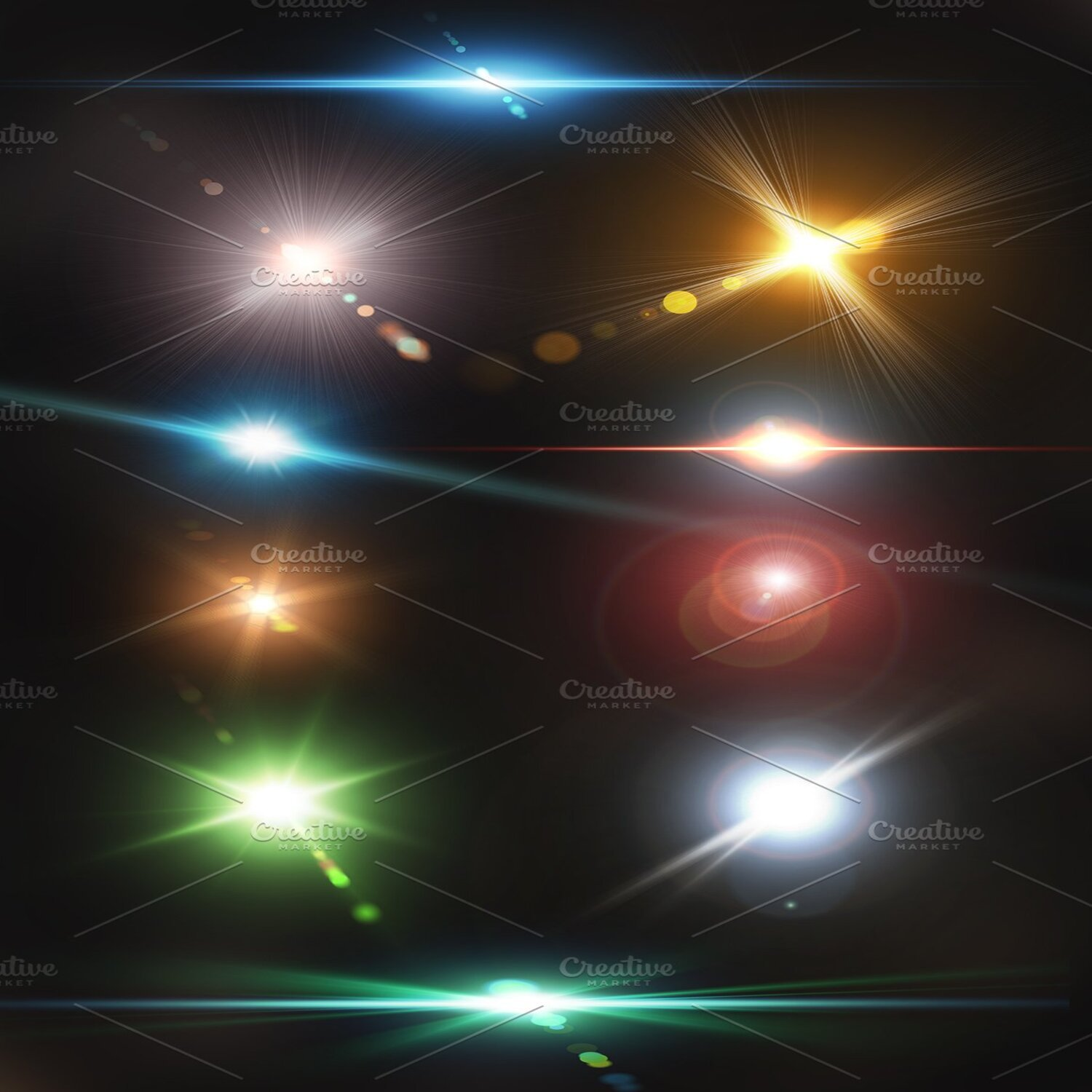 Optical Lens Flares Pack 2 cover image.