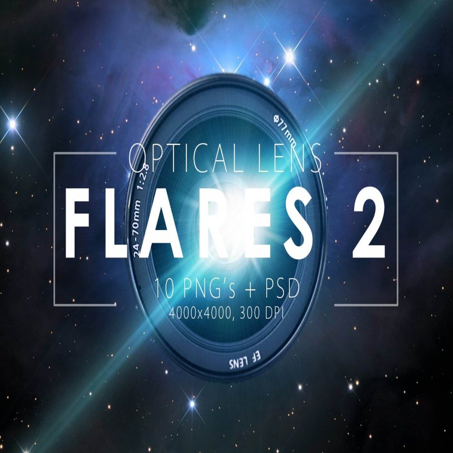 Optical Lens Flares Pack 2 main cover.
