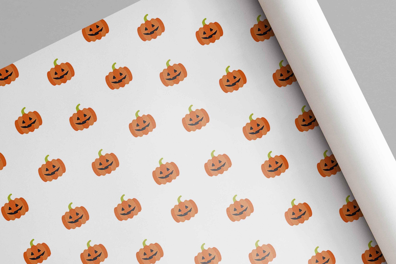 orange pumpkin pattern preview.