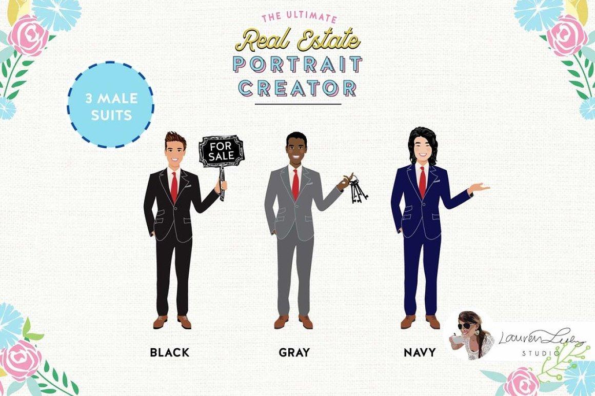Three types of realtors for creative presentation.