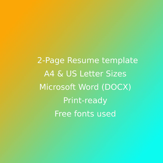 Bakery CV Resume Template cover image.