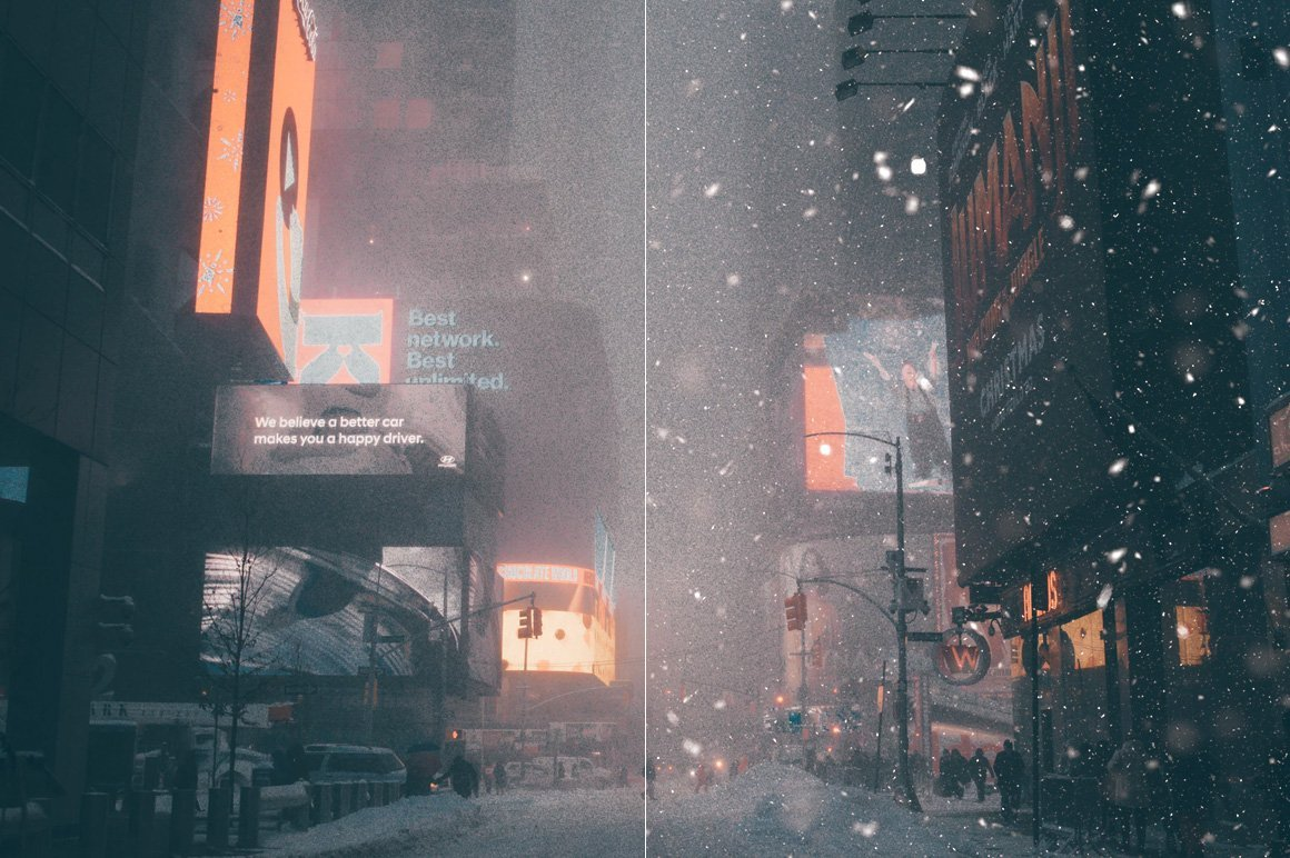 Winter in a big city turns people in a hurry into down-to-earth and brooding.