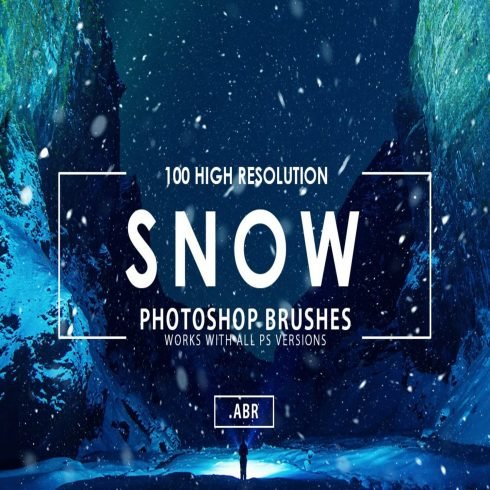 100 Snow Photoshop Brushes main cover.