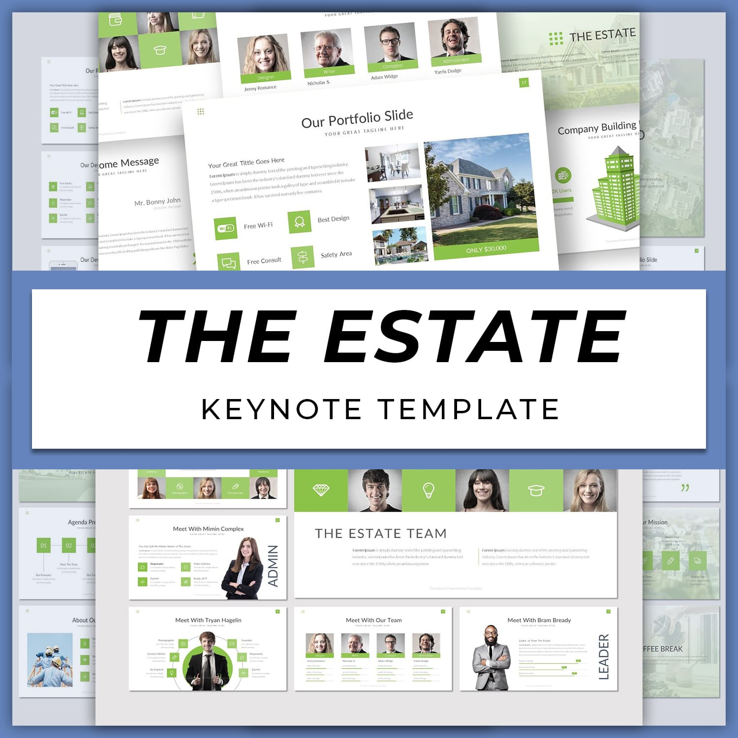 The Estate - Keynote Template main cover.
