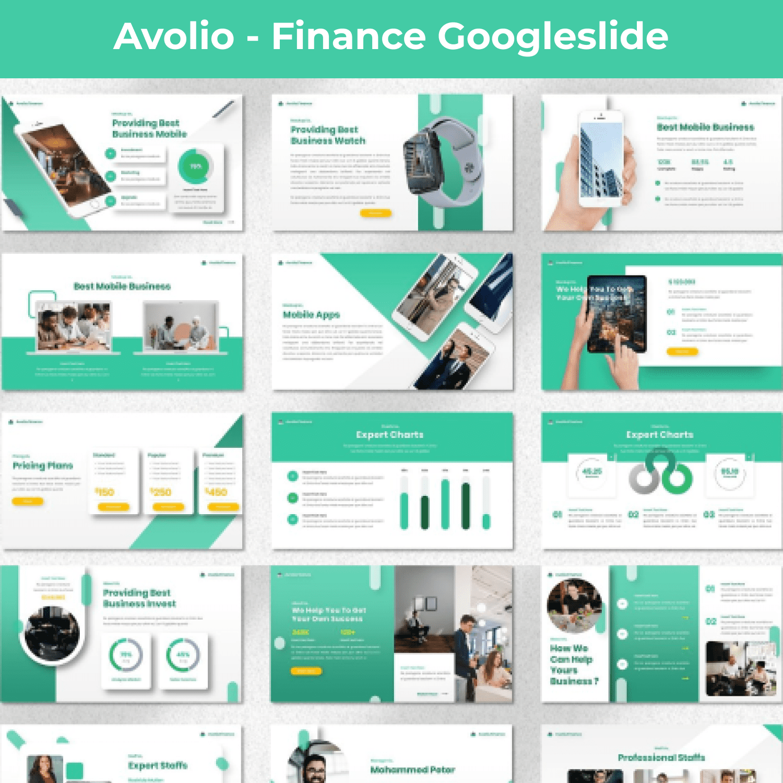 Avolio - Finance Googleslide main cover.