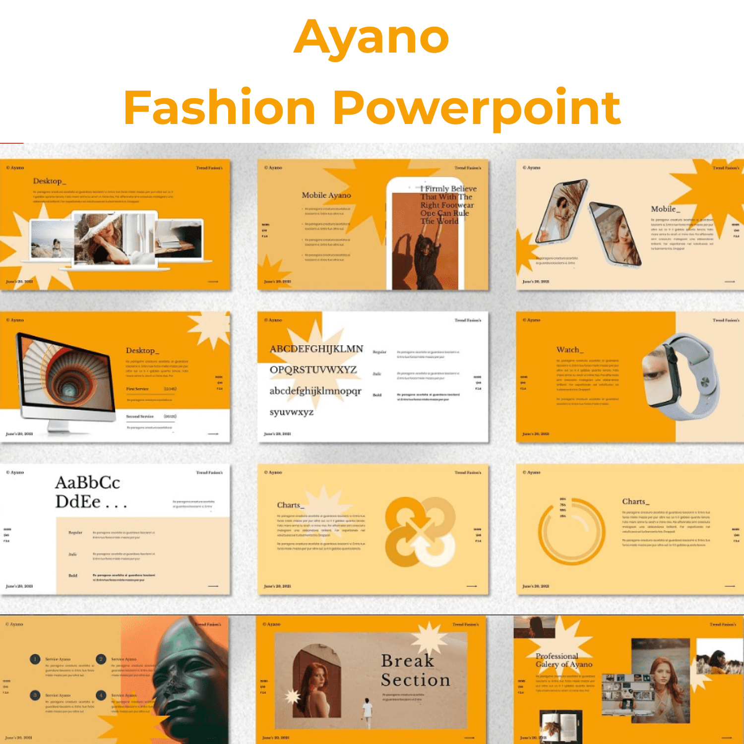 Ayano - Fashion Powerpoint main cover.