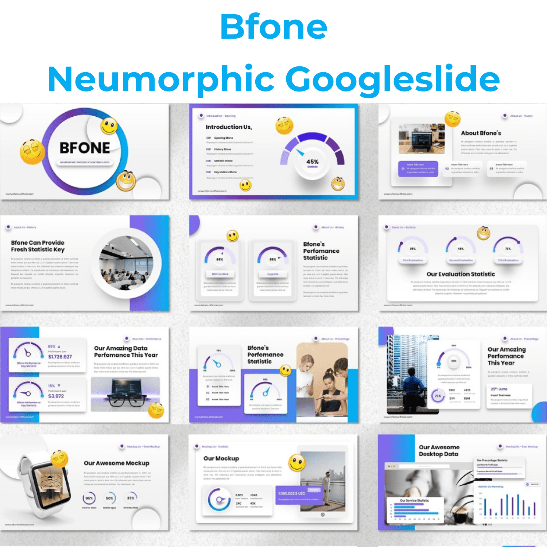 Bfone - Neumorphic Googleslide main cover.