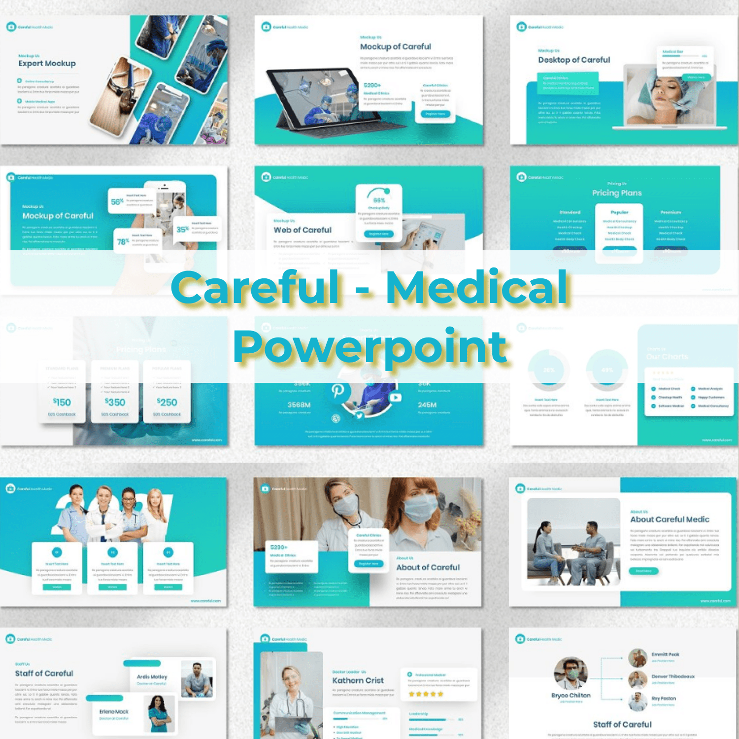 Careful - Medical Powerpoint main cover.