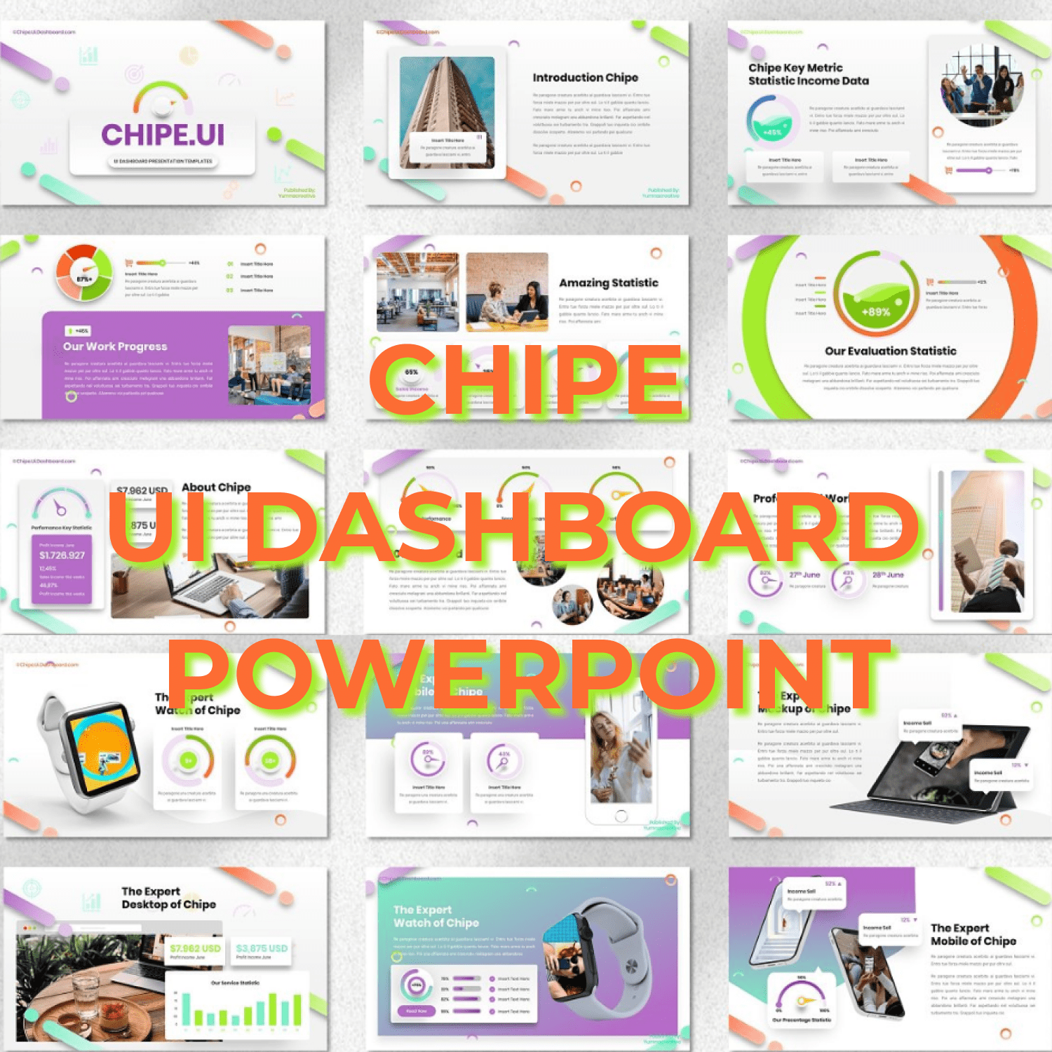 Chipe - UI Dashboard Powerpoint main cover.