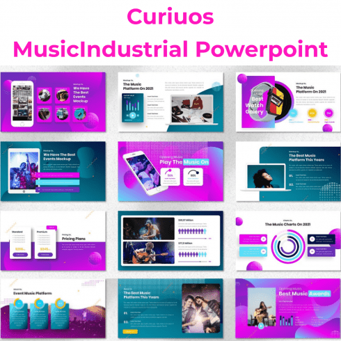 Curiuos - MusicIndustrial Powerpoint main cover.