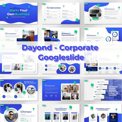 Dayond - Corporate Googleslide main cover.