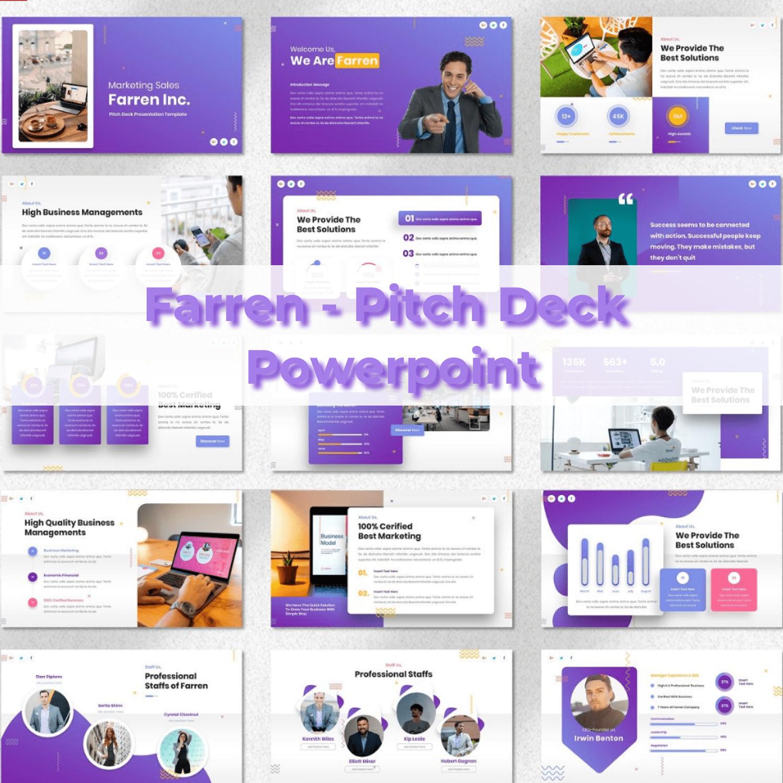 Farren - Pitch Deck Powerpoint main cover.