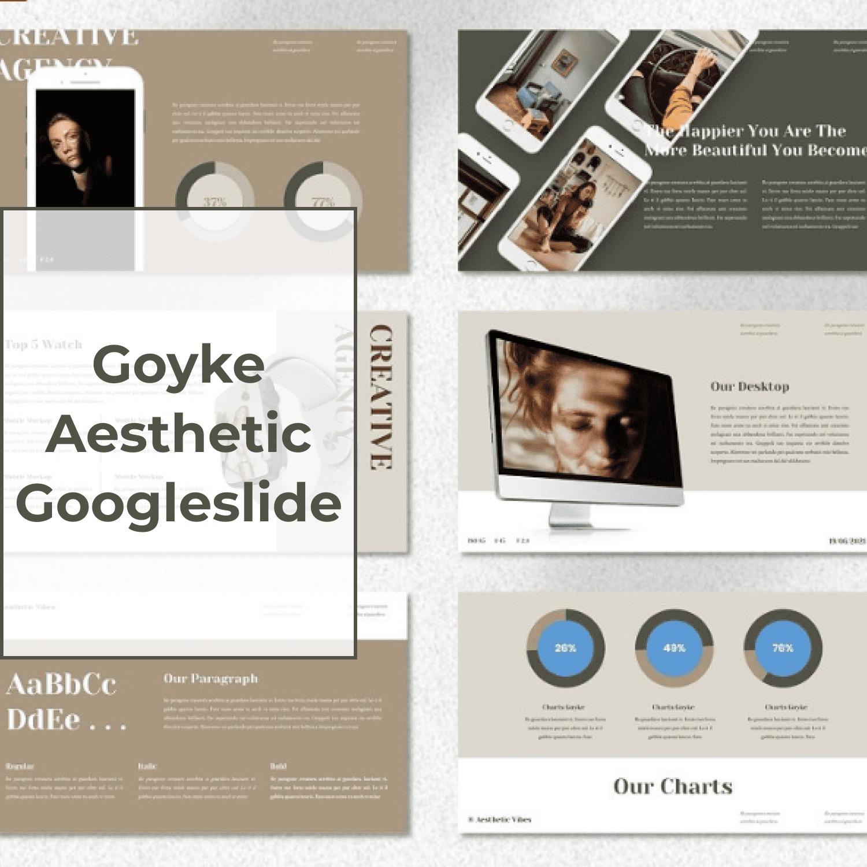 Goyke - Aesthetic Googleslide main cover.