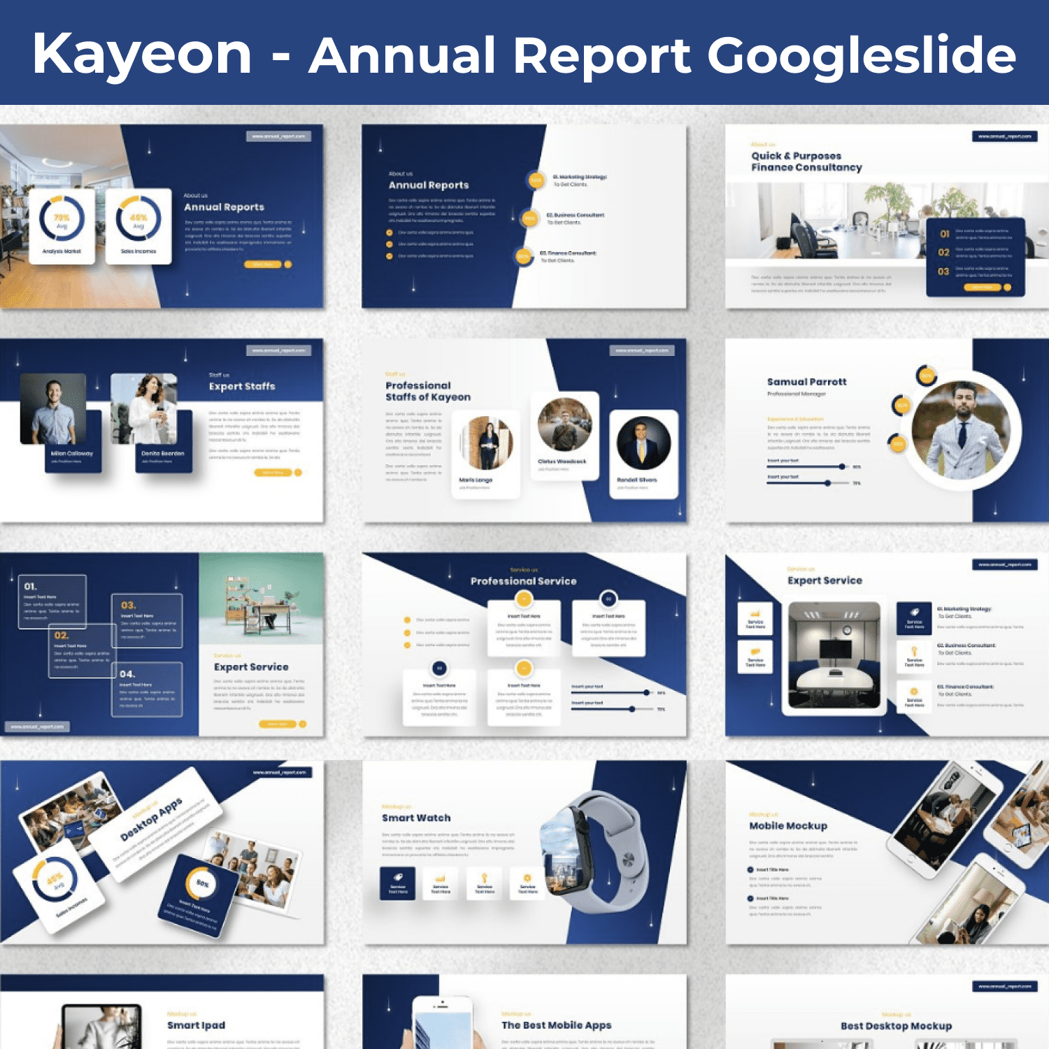 Kayeon - Annual Report Googleslide main cover.
