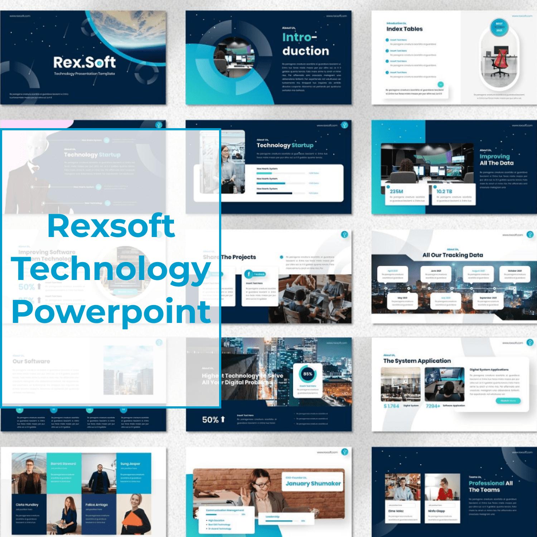 Rexsoft - Technology Powerpoint main cover.