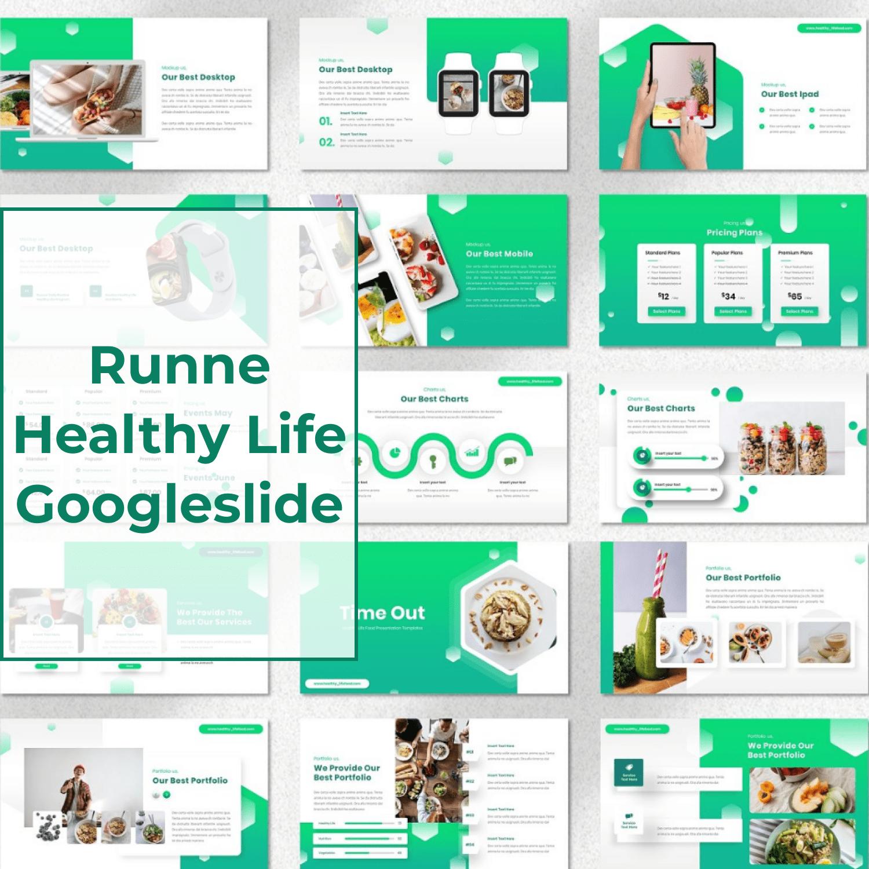 Runne - Healthy Life Googleslide main cover.