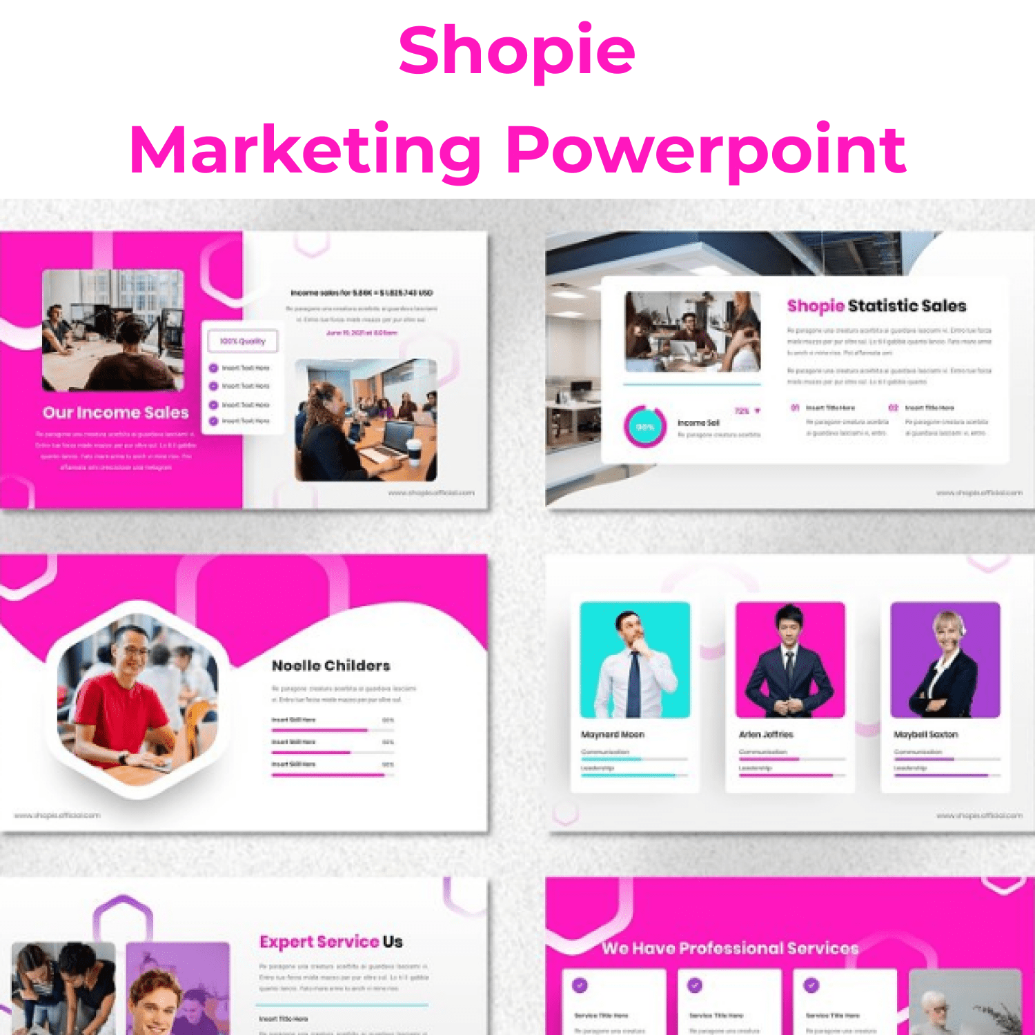 Shopie - Marketing Powerpoint main cover.