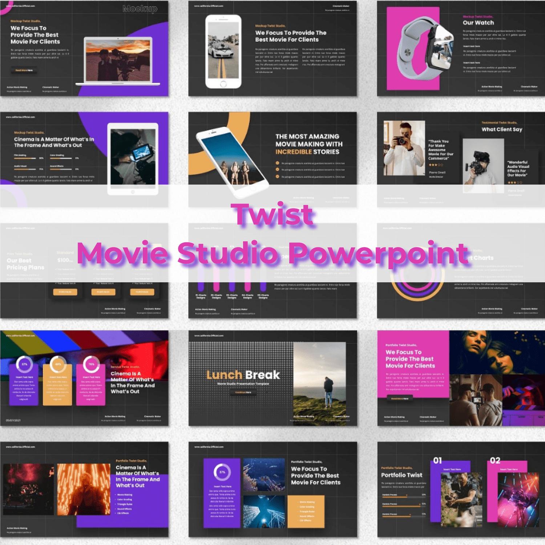 Twist - Movie Studio Powerpoint main cover.