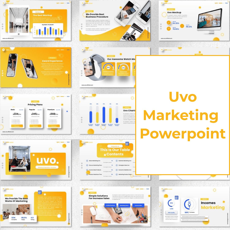 Uvo - Marketing Powerpoint main cover.