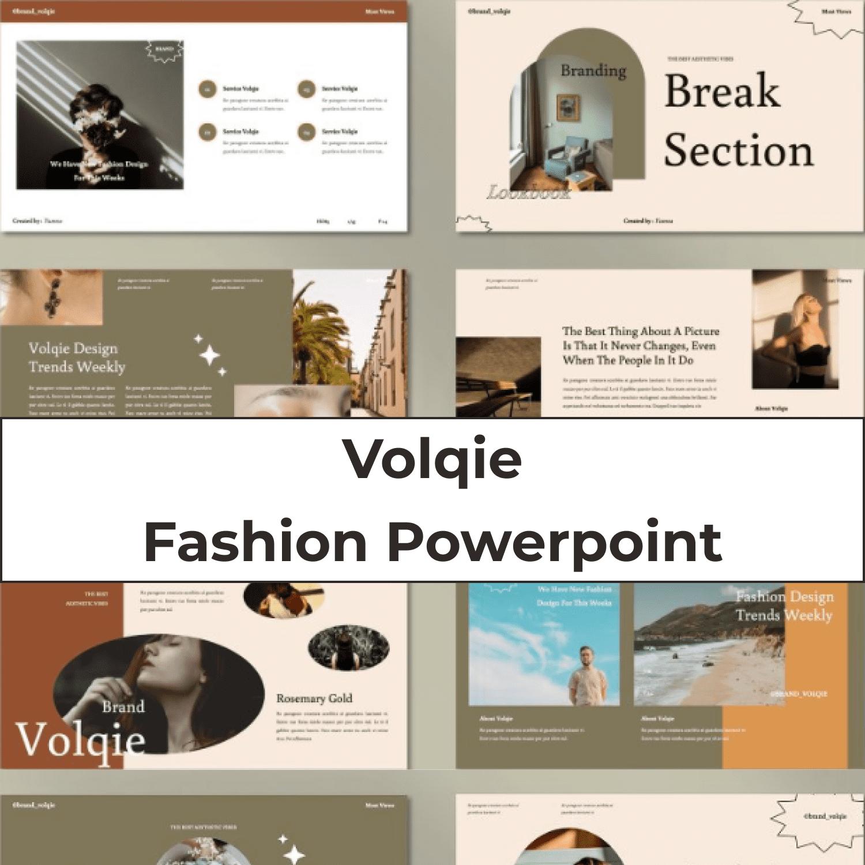 Volqie - Fashion Powerpoint main cover.