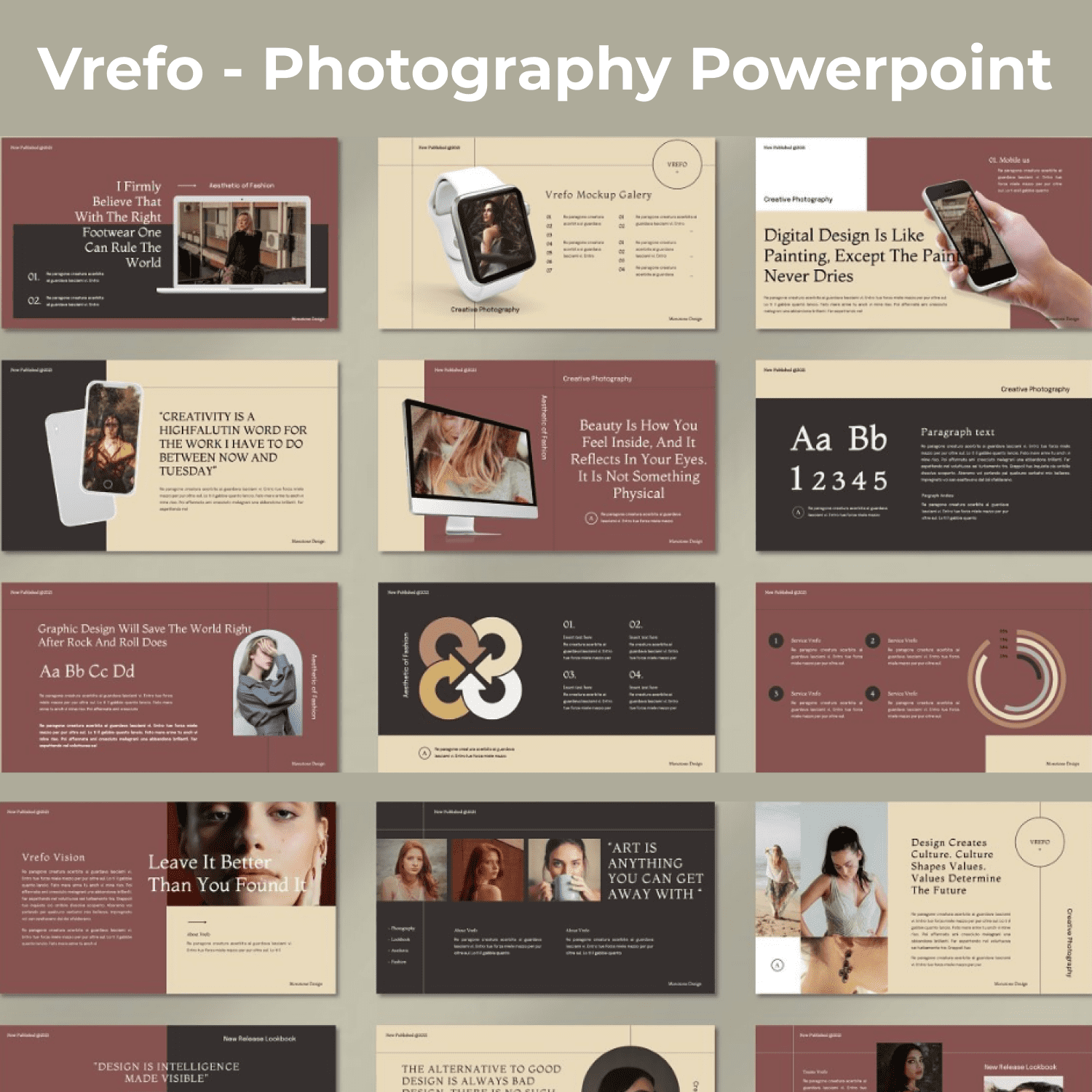 Vrefo - Photography Powerpoint main cover.