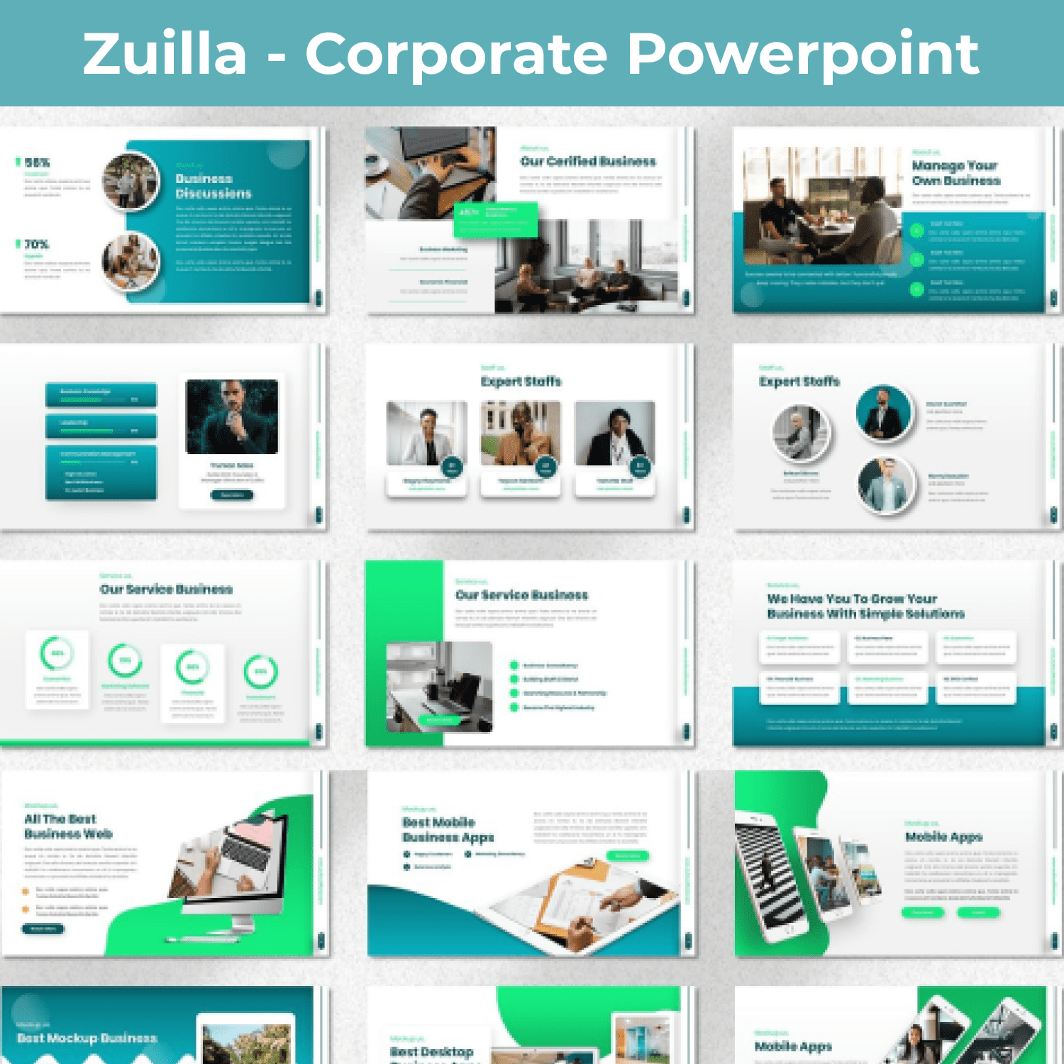 Zuilla - Corporate Powerpoint main cover.