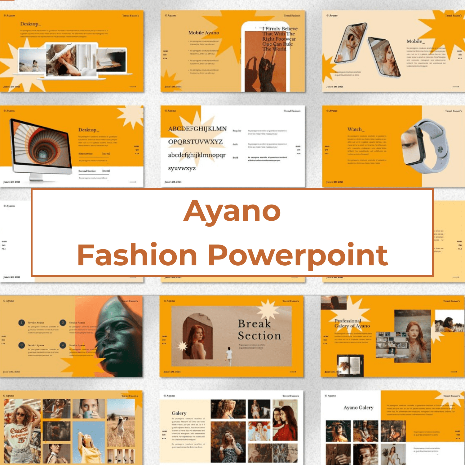 Ayano - Fashion Powerpoint cover image.